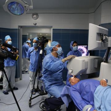 Noor Eye Hospital and Clinics making use of Geovision IP Cameras